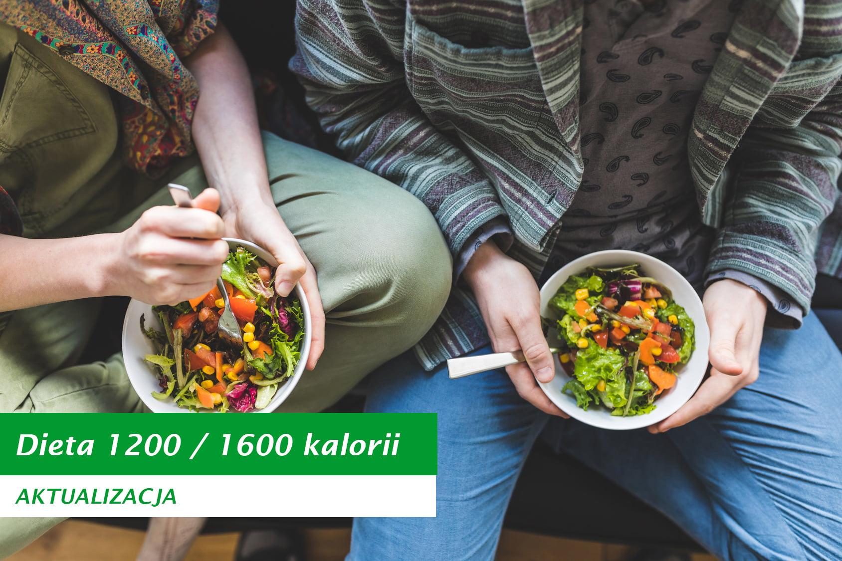 Nowa aktualizacja diety 1200/1600 kalorii